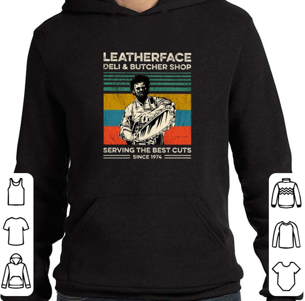 Premium Leatherface deli butcher shop serving the best cuts vintage shirt 4 - Premium Leatherface deli & butcher shop serving the best cuts vintage shirt