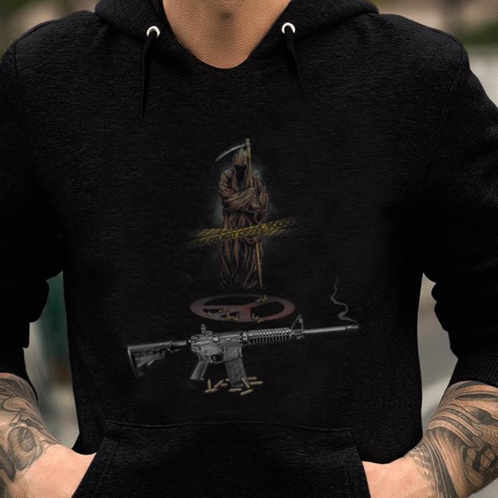 Premium Never Be Peace Grim Reaper AR-15 shirt