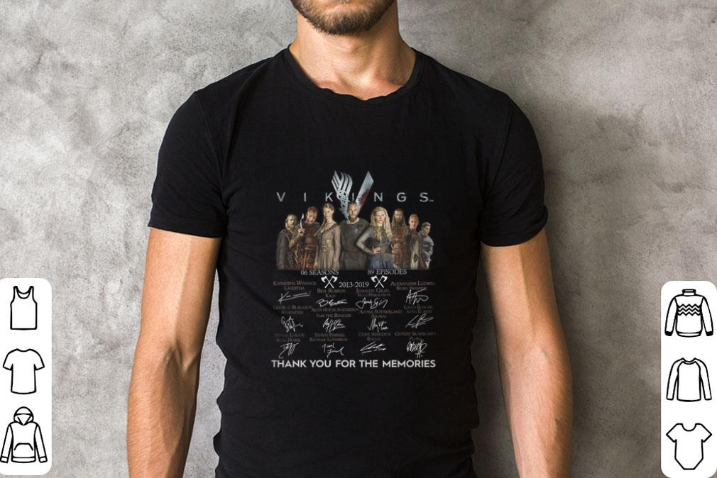 Premium Vikings 2013-2019 signatures thank you for the memories shirt