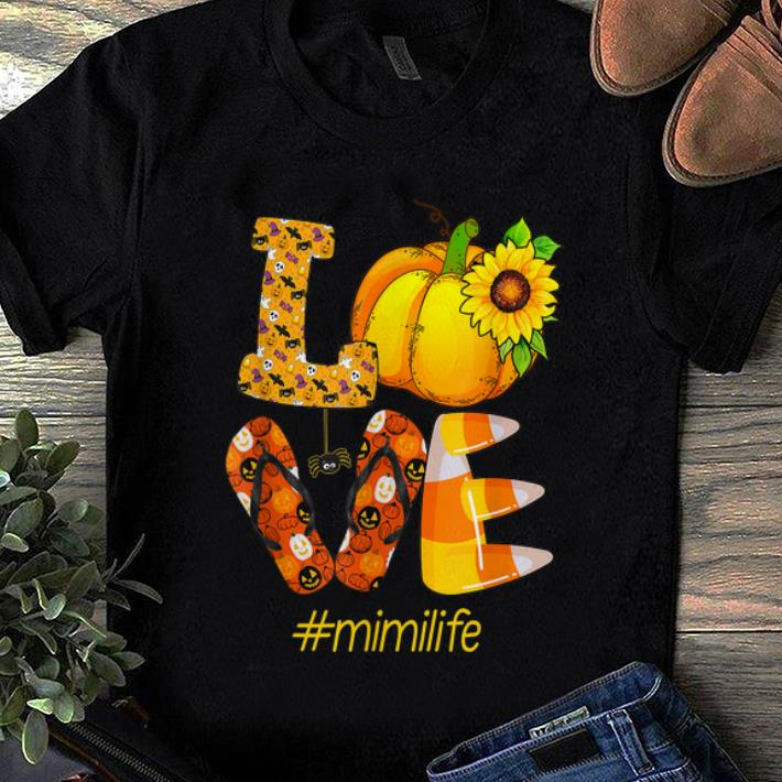 Pretty Love mimi life- Halloween sunflower Gift shirt