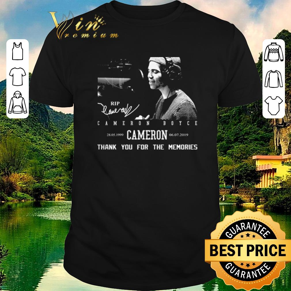 Pretty Rip Cameron Boyce 1999-2019 signature thank you for the memories shirt sweater