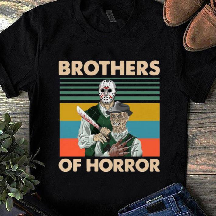 Pretty Vintage Jason Voorhees And Freddy Krueger Brothers Of Horror shirt 1 1 - Pretty Vintage Jason Voorhees And Freddy Krueger Brothers Of Horror shirt