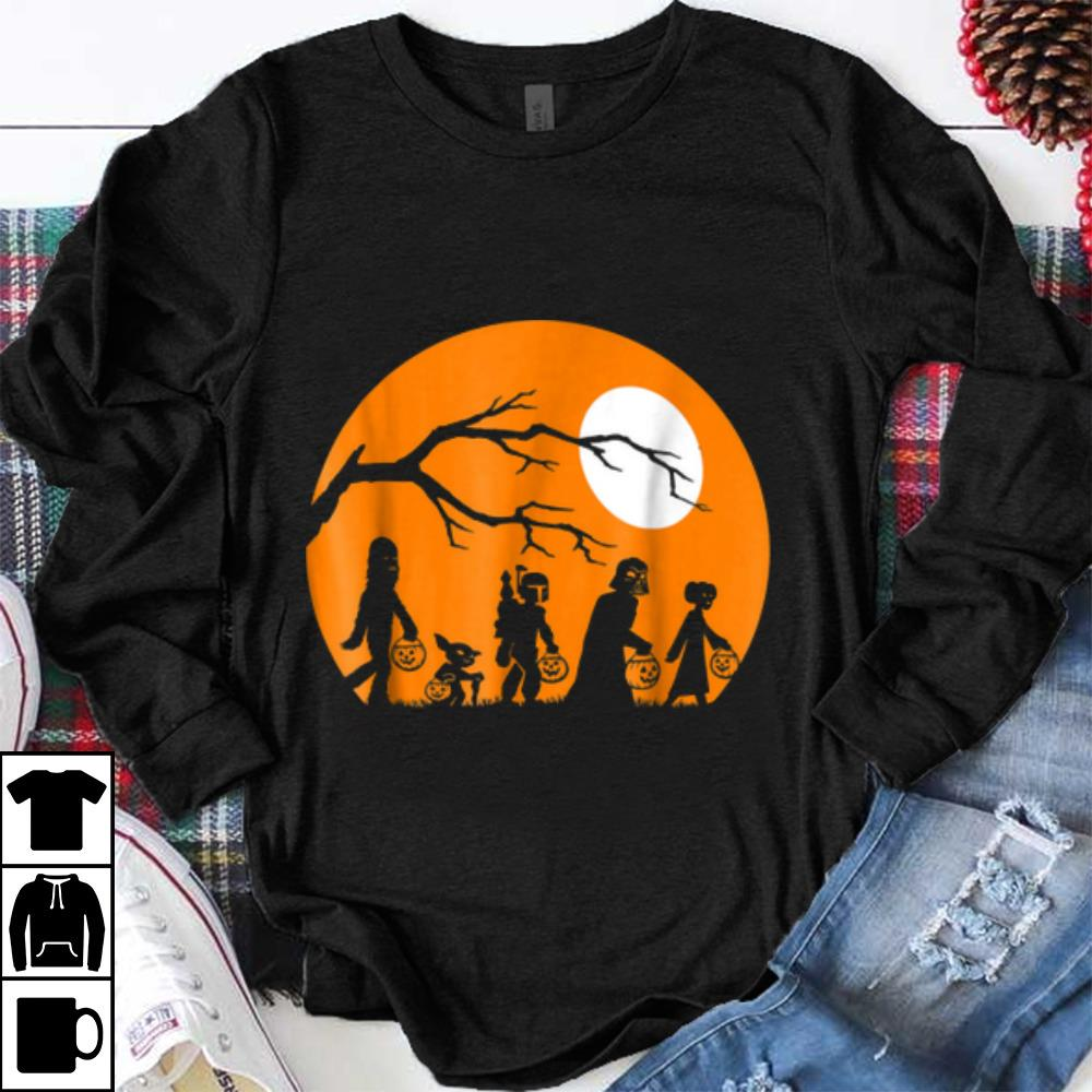 Halloween Trick Or Treat Silhouette.Star Wars Trick Or Treat Halloween Silhouette Shirt