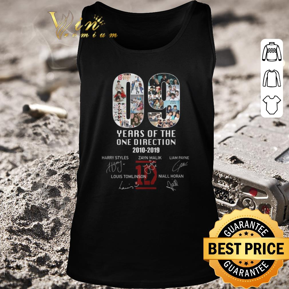 Top 09 years of the One Direction 2010-2019 signatures shirt