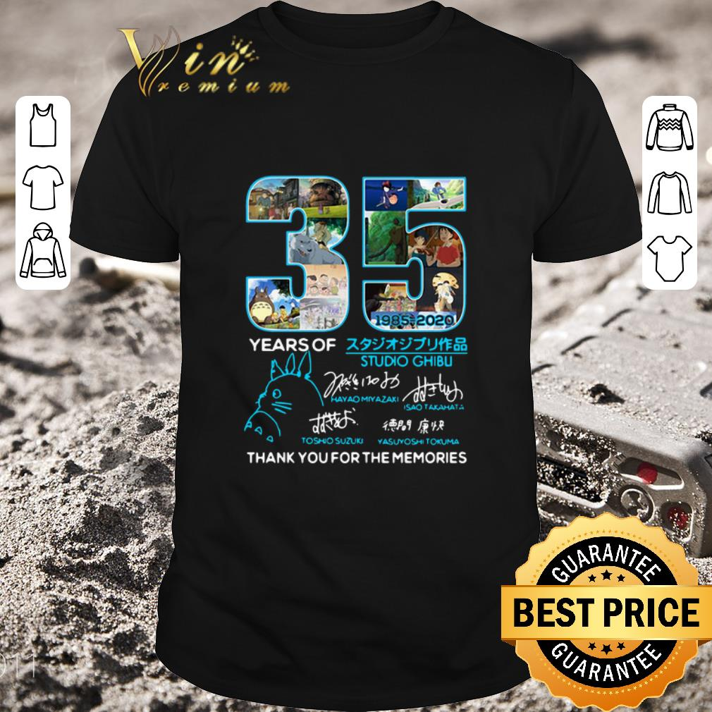 Top 35 Years Of Studio Ghibli 1985-2020 Thank You For The Memories shirt