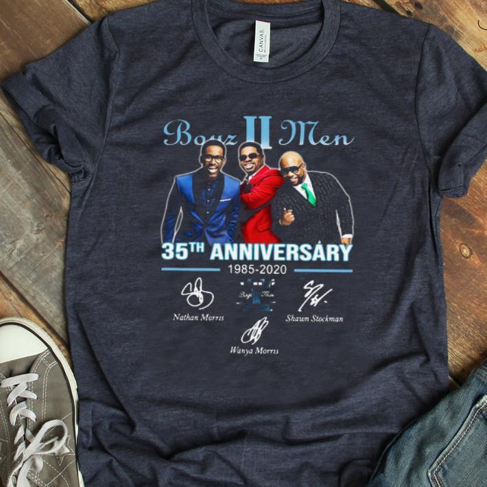 Top 35th Anniversary 1985-2020 Signatures Boyz II Men shirt
