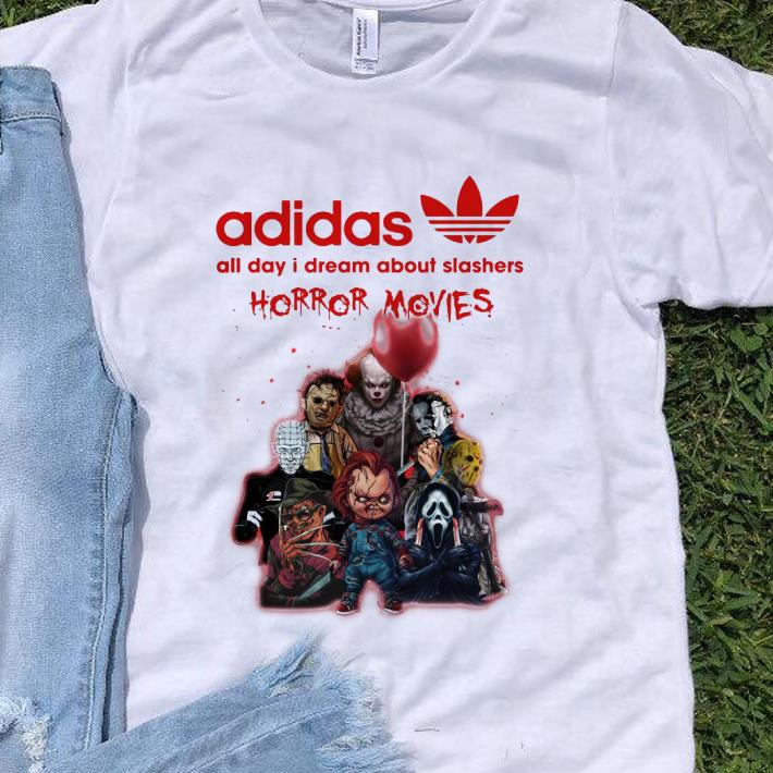 Top Adidas All Day I Dream About Slashers Horror Movie shirt