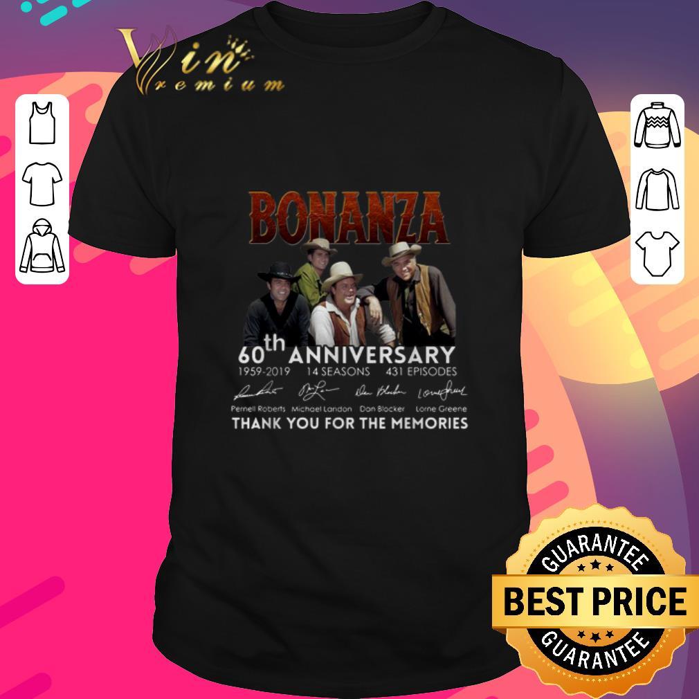 Top Bonanza 60th anniversary 1959-2019 thank you for the memories shirt