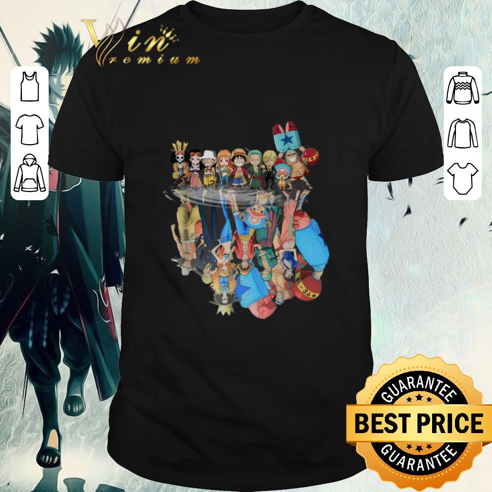 Top Chibi characters One Piece reflection water mirror shirt