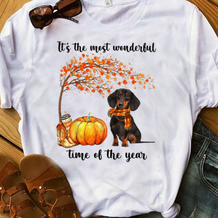 Top Dachshund Autumn It's The Most Wonderful Time Of The Year shirt