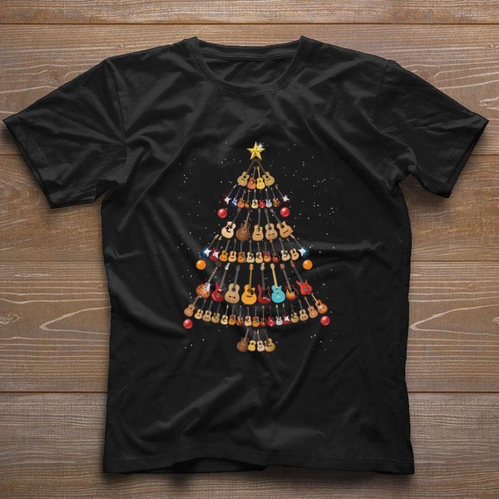 Top Guitars Christmas tree shirt
