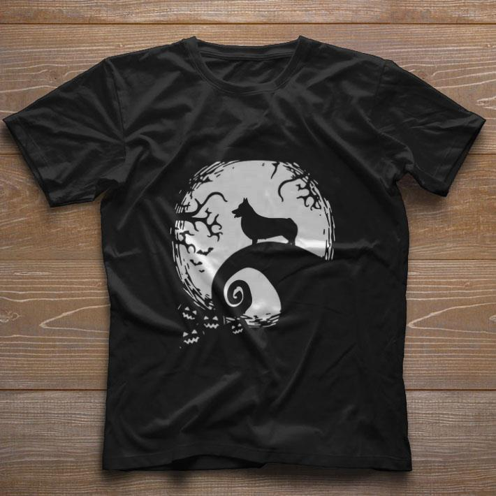 Top Halloween Shiba Inu dog and moon shirt