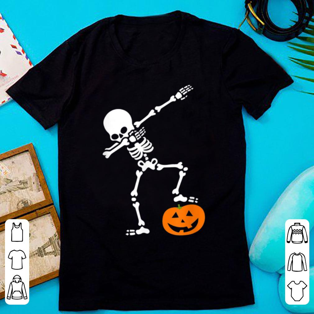 Top Halloweens For Boys Kids Dabbing Skeleton Pumpkins shirt