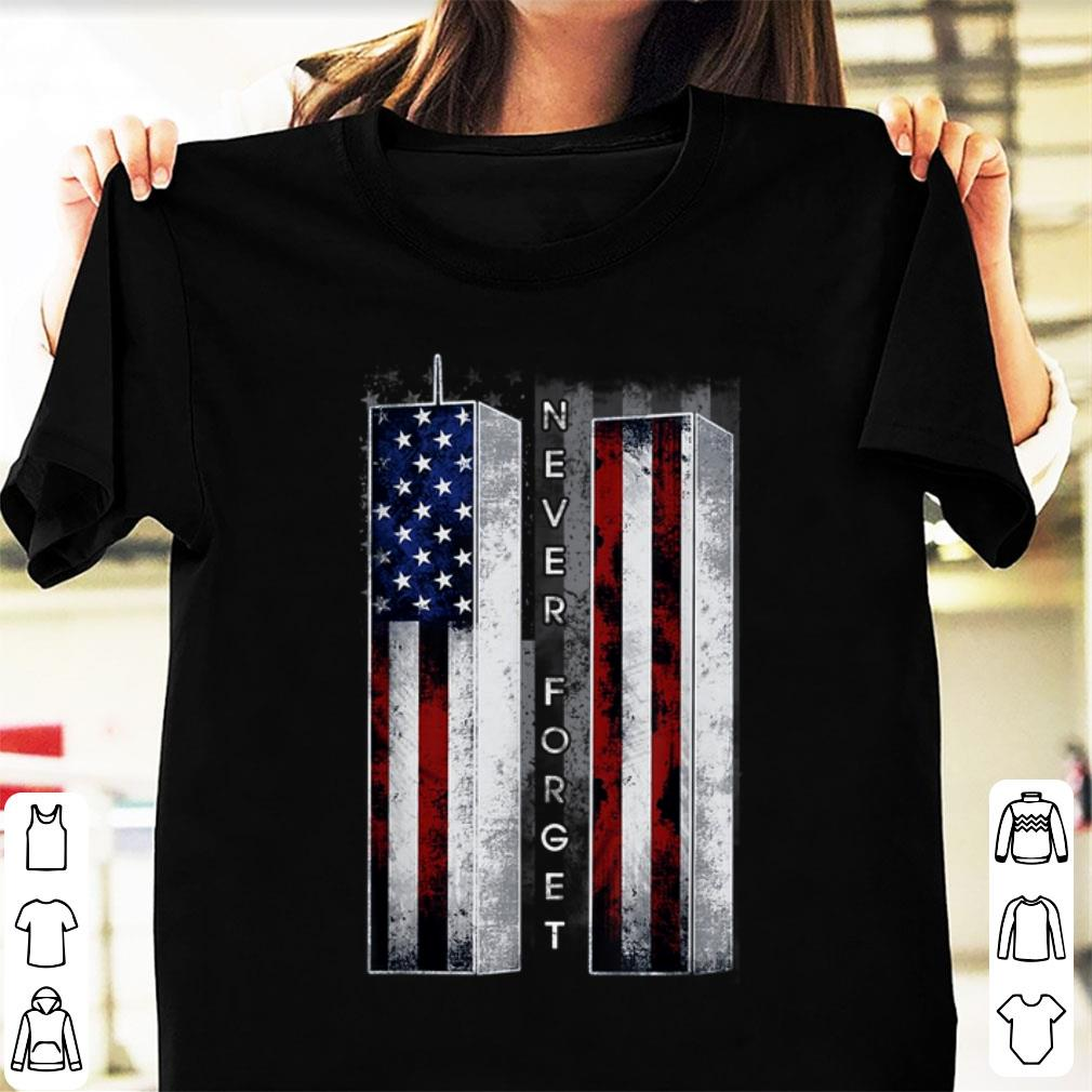 Top Never Forget American Flag shirt