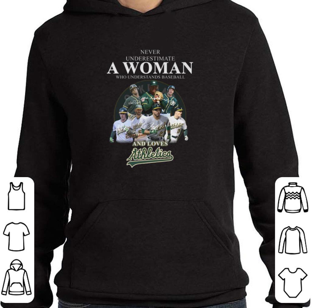 Top Never underestimate a woman who baseball and loves Athletics shirt