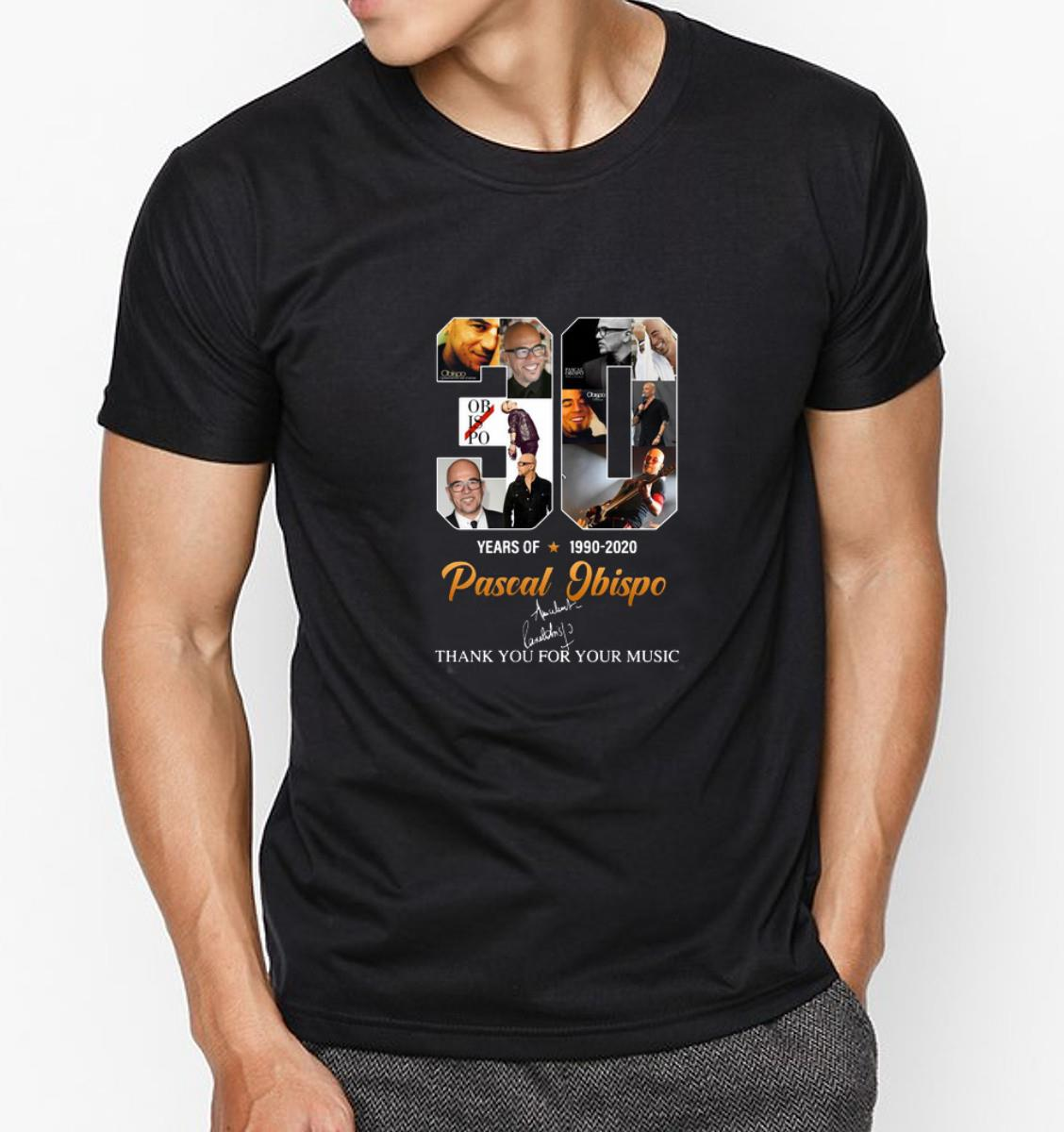 Top Pascal Obispo 30 Years Thank You For The Memories shirt