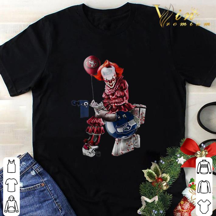 Top Pennywise San Francisco 49ers Los Angeles Rams Seahawks toilet shirt