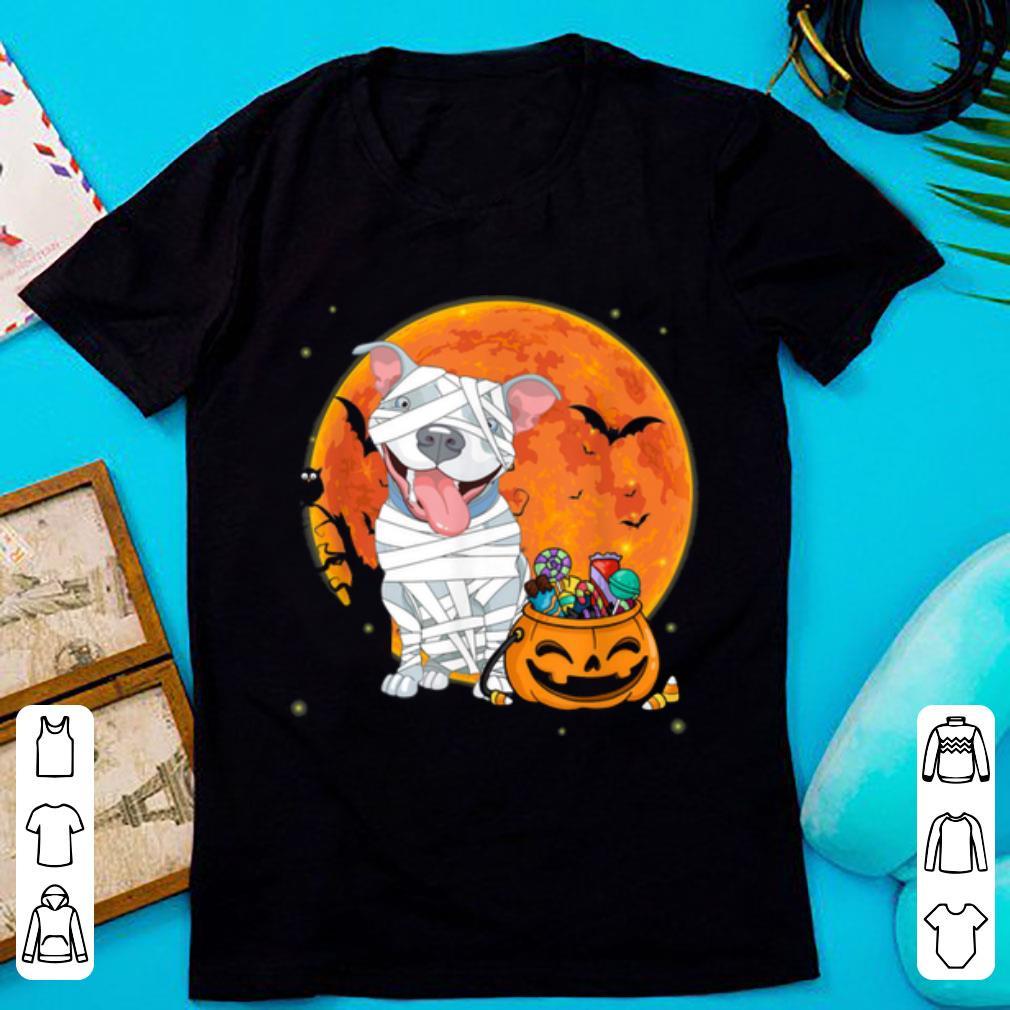 Top Pitbull Dog With Candy Pumpkin Halloween Gifts shirt
