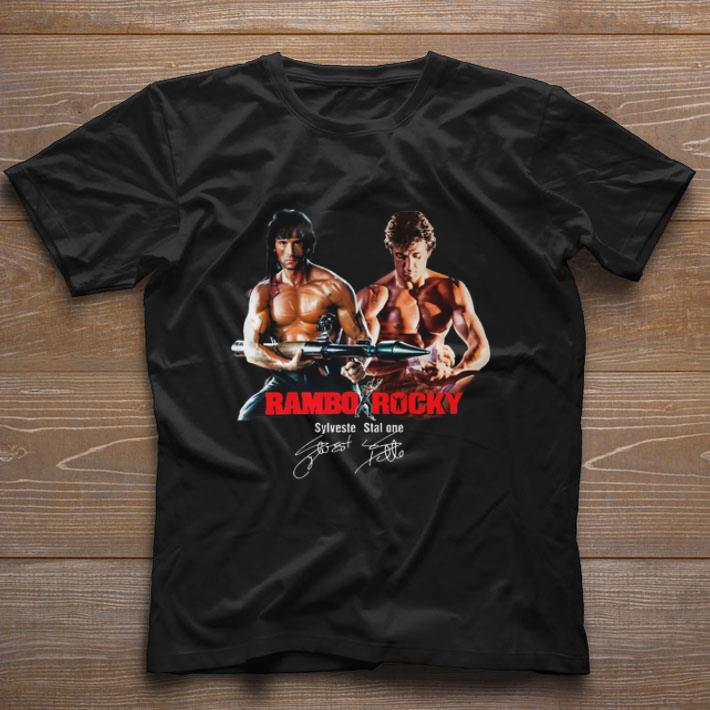 Top Rambo Rocky Sylvester Stallone Signature shirt