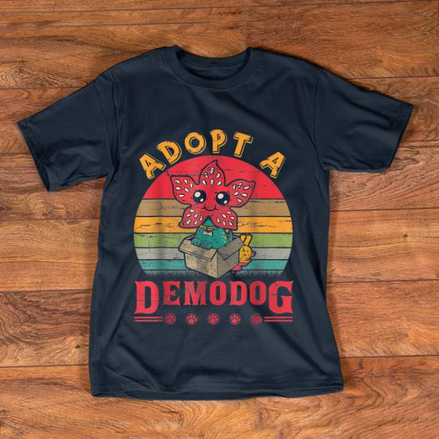 Awesome Adopt A Demodog Paw Dog Lovers shirt
