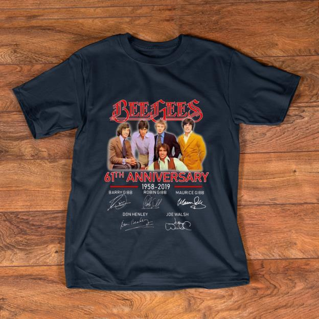 Awesome Bee Gees 61th Anniversary 1958-2019 Signatures shirt