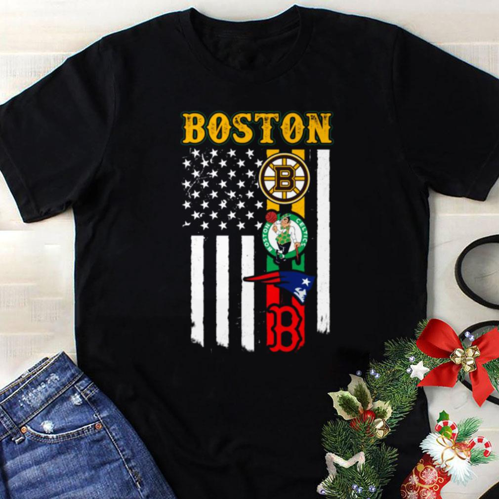 Awesome Boston New England Patriots Boston Celtics Bruins American Flag Shirt 1 1.jpg