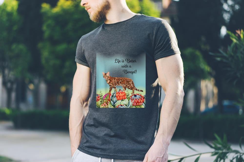 Awesome Life Is Better With A Bengal Cat Shirt 3 1.jpg