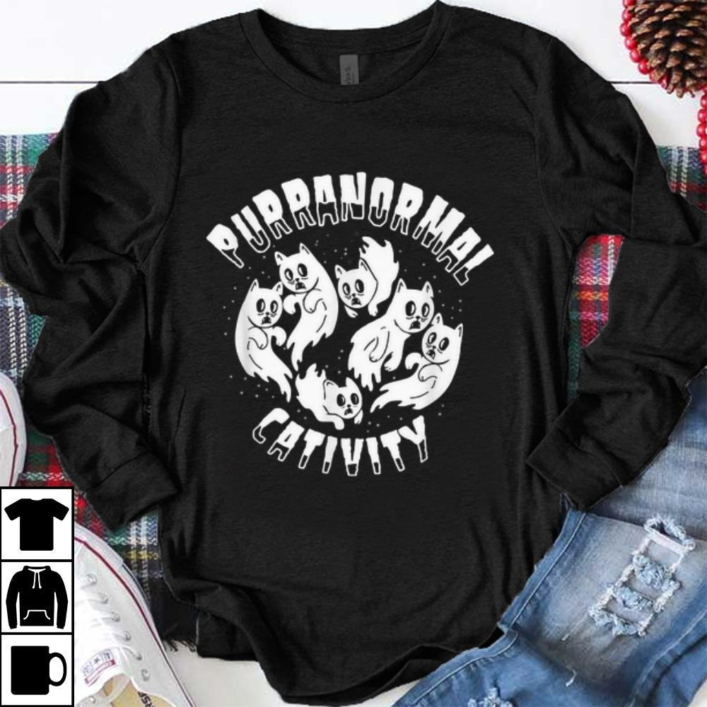Awesome Purranormal Cativity Scary Cats Halloween Cat Lover shirt