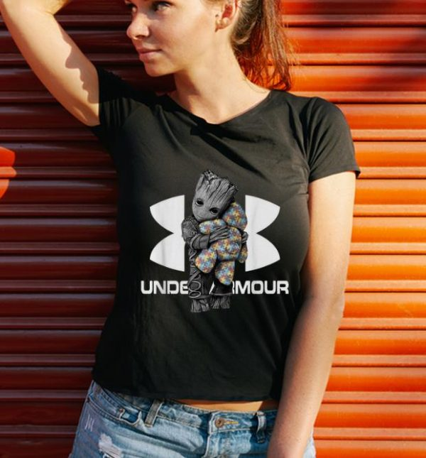 Awesome Under Armour Baby Groot Hug Teddy Autism Bear shirt