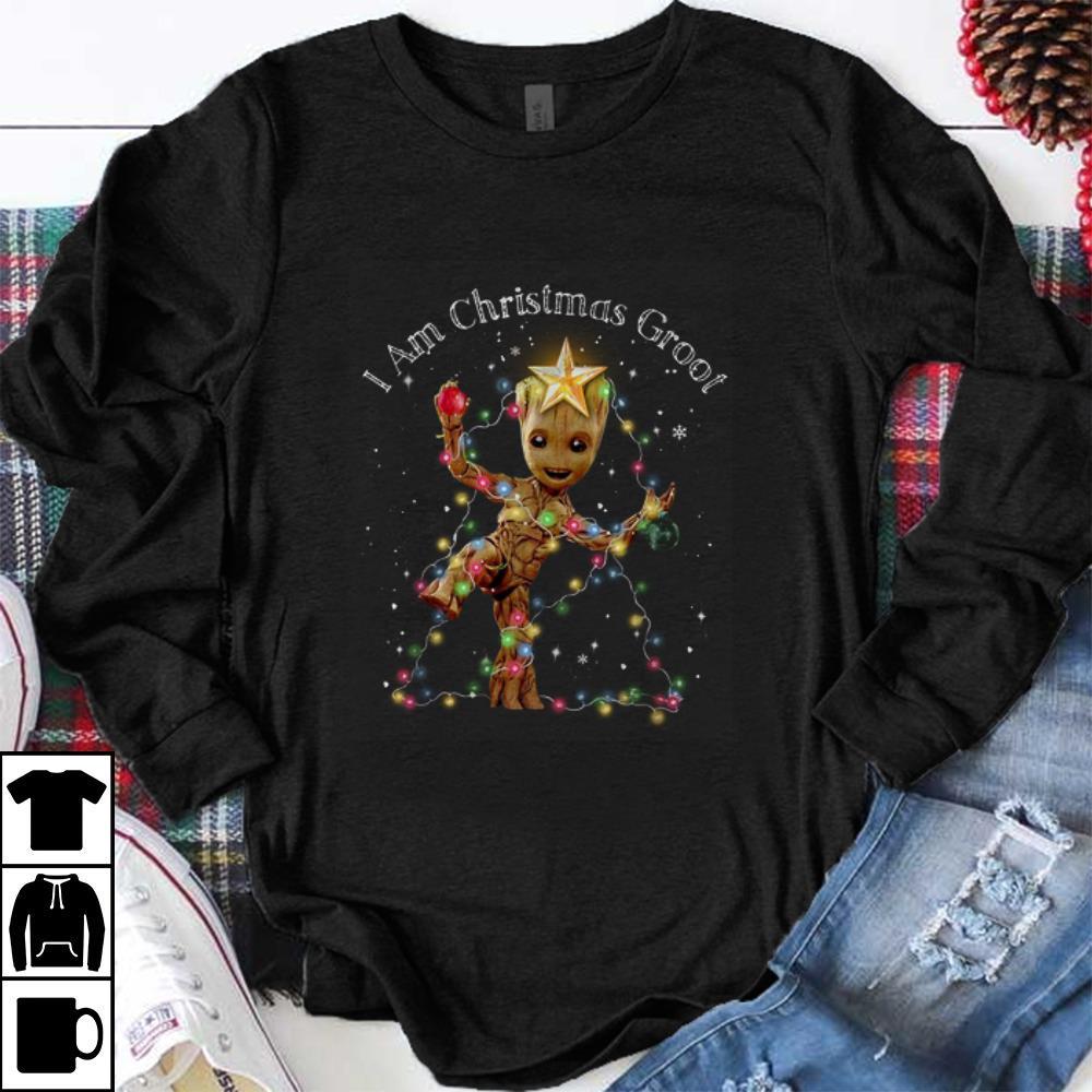 Hot I Am Christmas Groot Christmas Groot Tree shirt