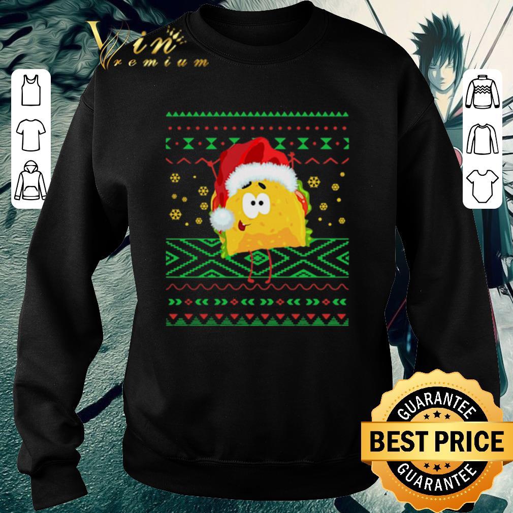 Hot TACO Santa Hat Ugly Christmas sweater shirt 4 - Hot TACO Santa Hat Ugly Christmas sweater shirt