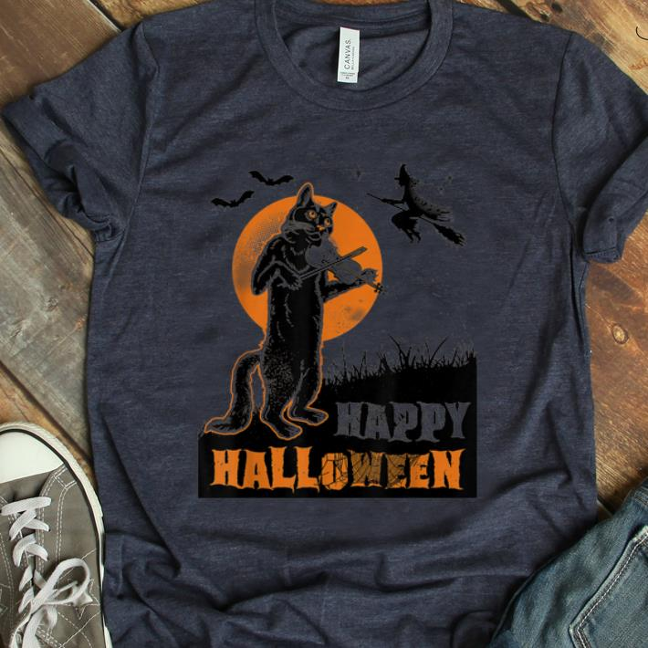 Nice Pumpkins Halloween Cat Playing Violin Shirt 1 1.jpg