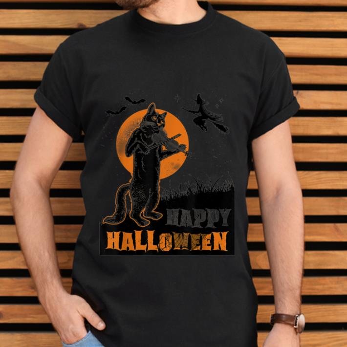Nice Pumpkins Halloween Cat Playing Violin Shirt 2 1.jpg
