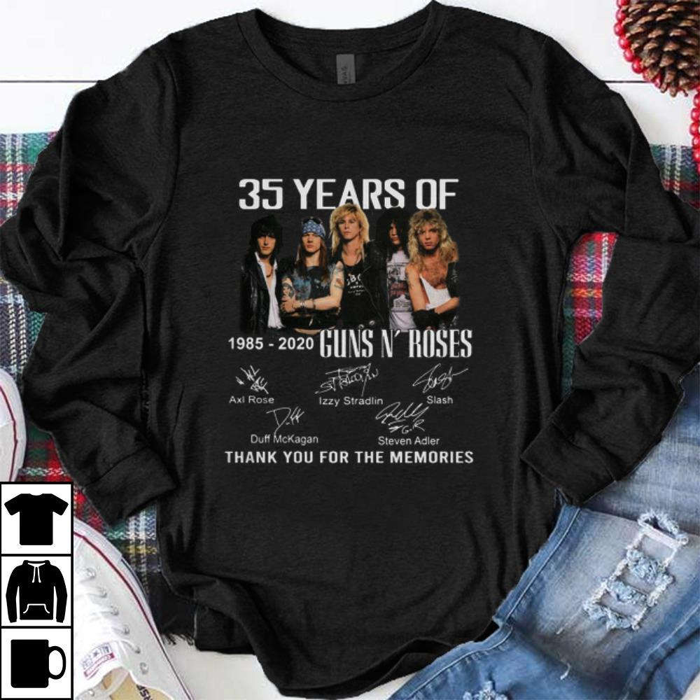 Official 35th Years Of Guns N Roses 1985 2020 Signature shirt 1 - Official 35th Years Of Guns N' Roses 1985-2020 Signature shirt