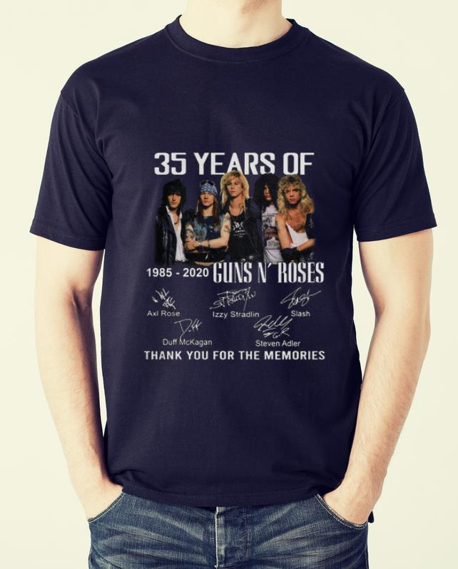 Official 35th Years Of Guns N' Roses 1985-2020 Signature shirt