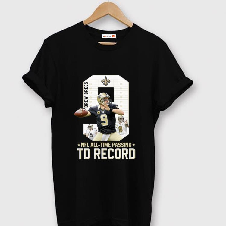 Awesome 09 New Orleans Saints Drew Brees Nfl All Time Passing Td Record Shirt 1 1.jpg