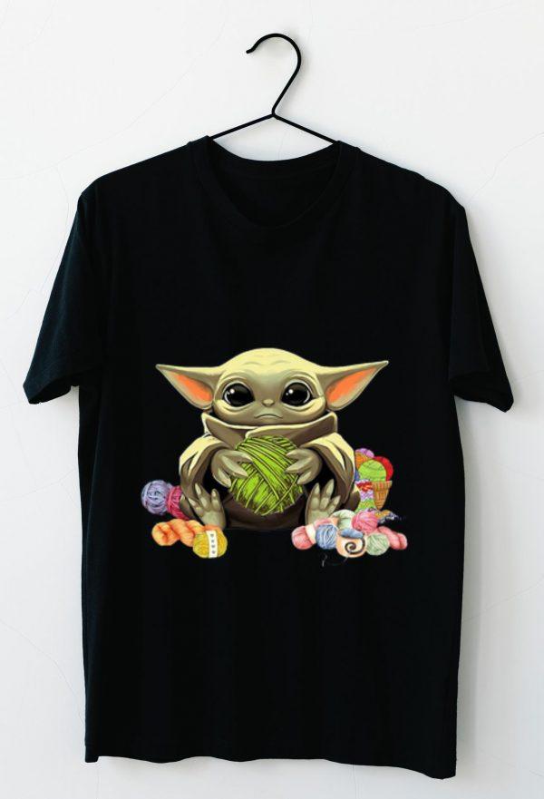 Hot Baby Yoda Hug Wool Rolls shirt