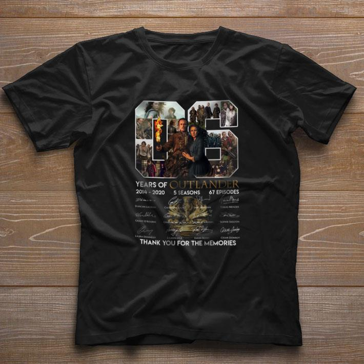 06 Years Of Outlander 2014 2020 Signature Thank You For Memories Shirt 1 1.jpg