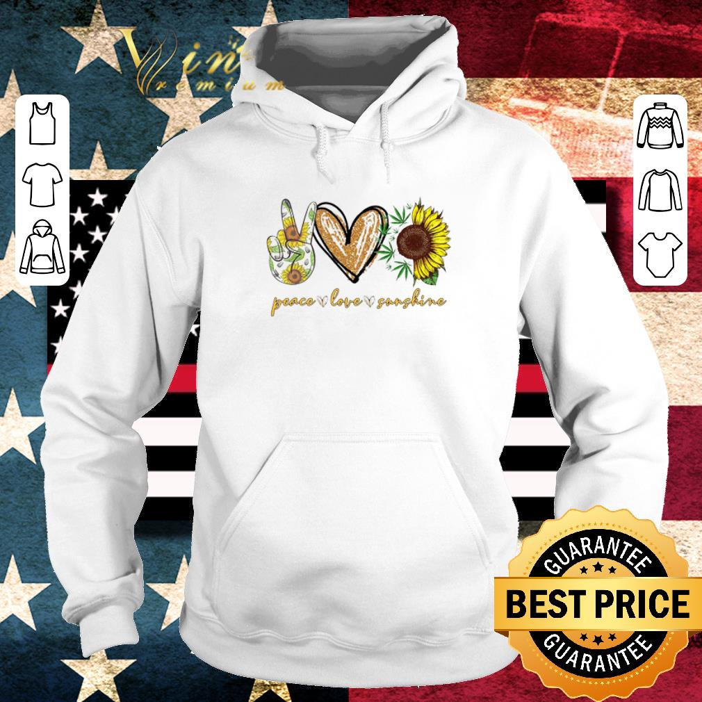 Premium Peace Love Sunshine Weed sunflower shirt