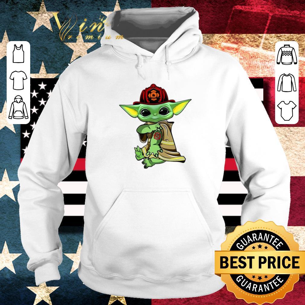 Top Baby Yoda tattoo Fireman shirt 4 - Top Baby Yoda tattoo Fireman shirt
