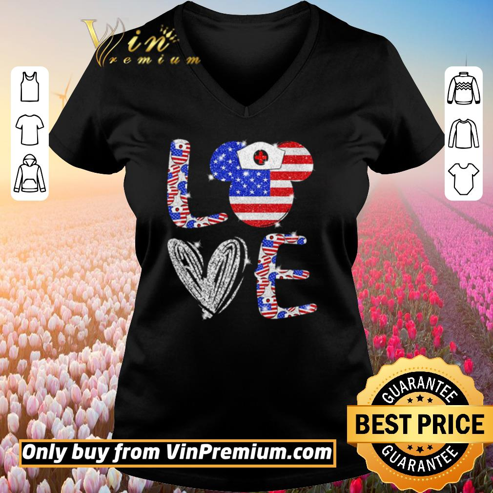 Nice Love independence day Mickey Mouse shirt 2