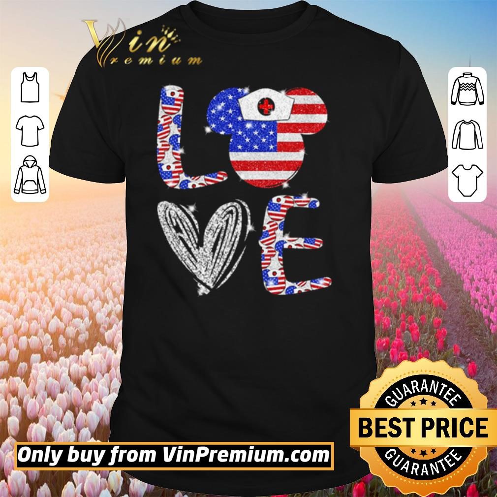 Nice Love independence day Mickey Mouse shirt 1