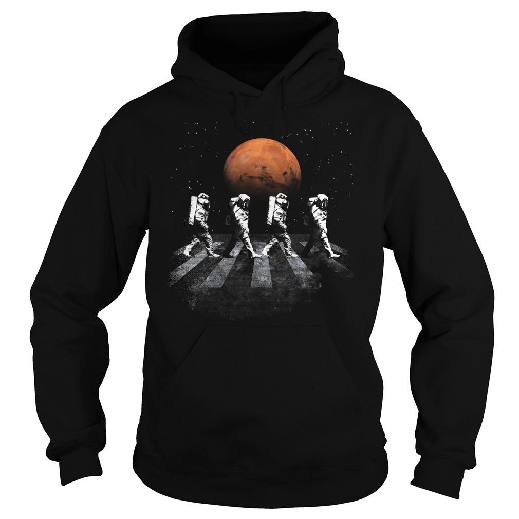 Astronauts In Walking In Space Occupy Mars Hoodie