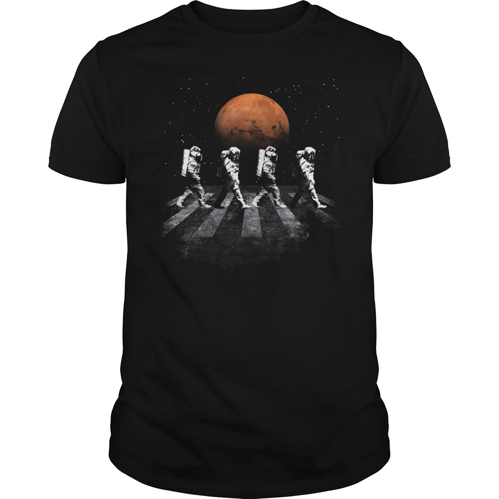 Astronauts In Walking In Space Occupy Mars Shirt