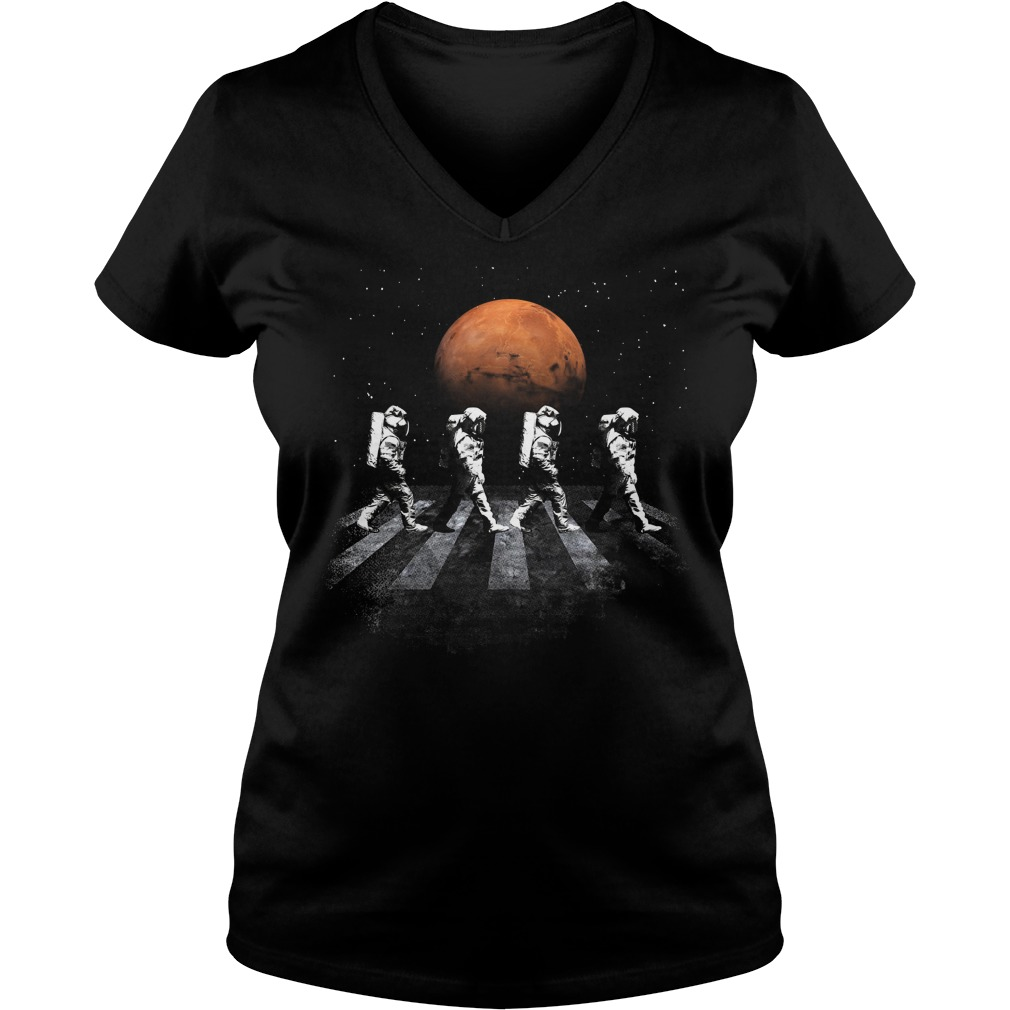 Astronauts In Walking In Space Occupy Mars V Neck