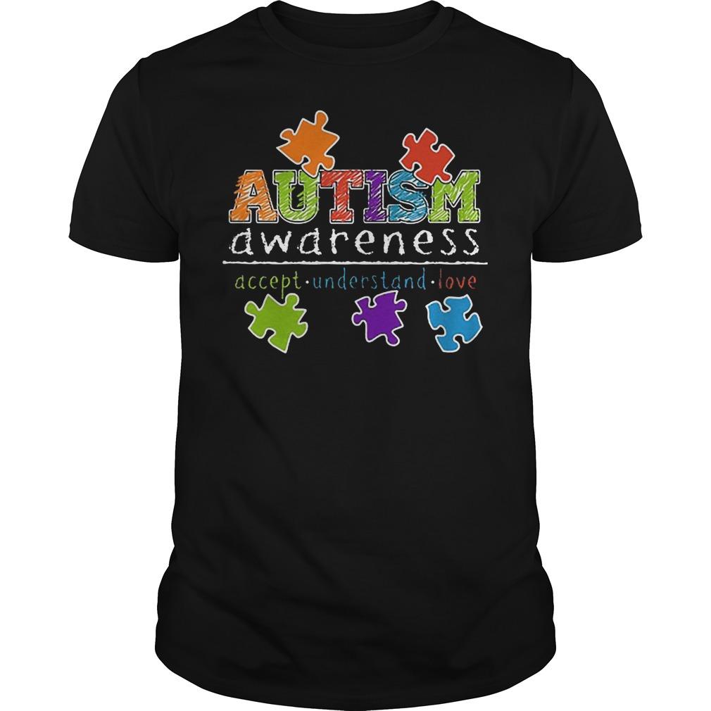 Autism Awareness Accept Understand Love Shirt