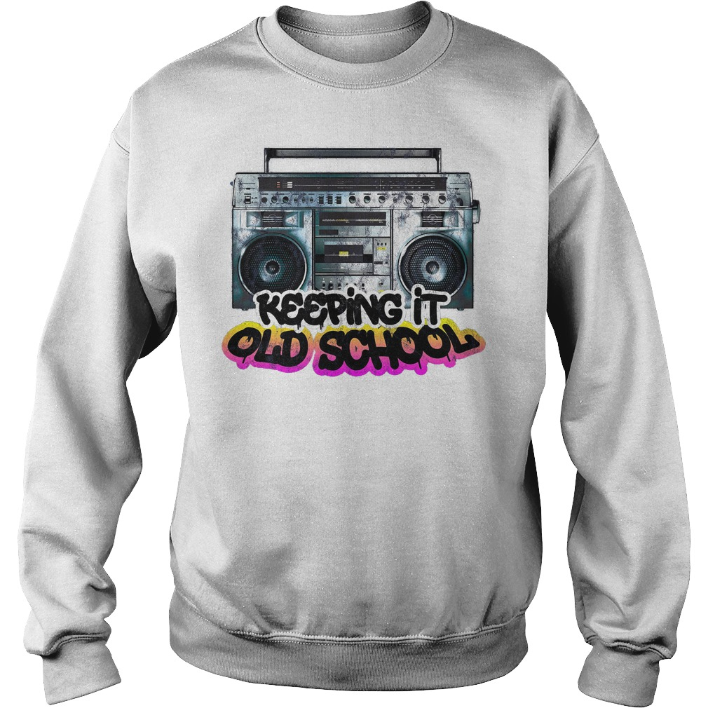Keeping It Old School Vintage Boombox 80s Sweater
