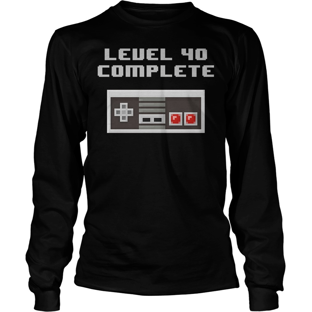 Level 40 Complete Retro Video Games 40th Birthday Longsleeve