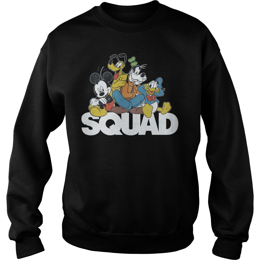 Squad Mickey Donald Pluto Goofy Sweater
