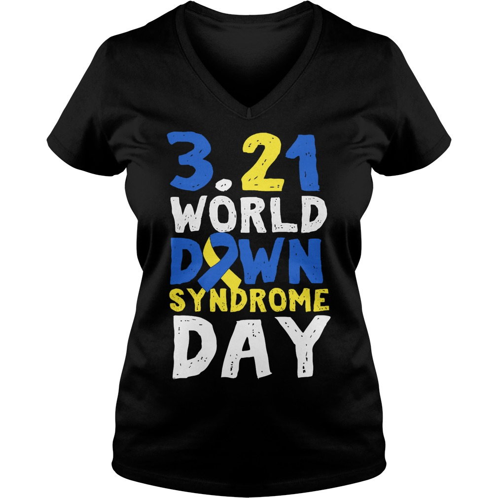 World Down Syndrome Day March 21 V Neck